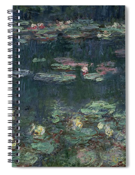 Waterlilies Green Reflections Spiral Notebook