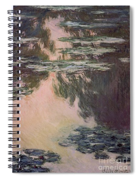 Waterlilies With Weeping Willows Spiral Notebook
