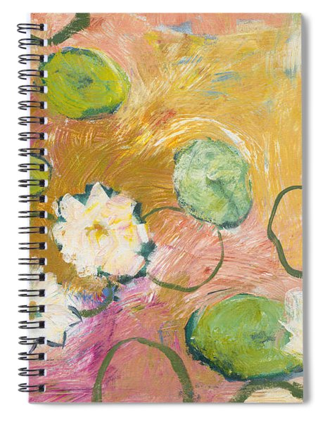 Waterlillies At Dusk Spiral Notebook