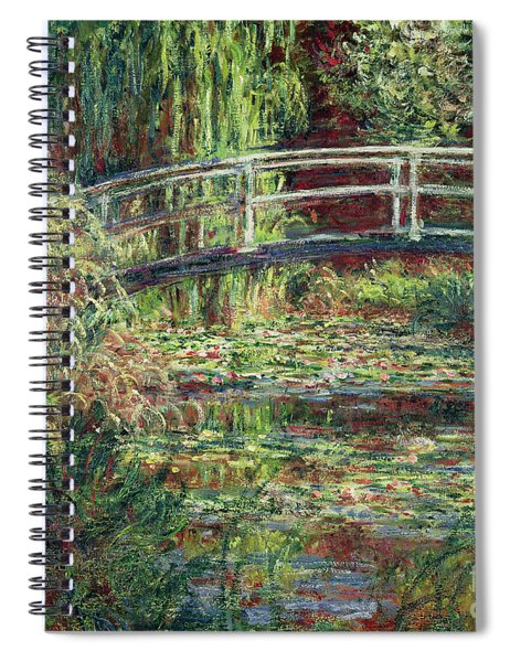 Waterlily Pond Pink Harmony 1900 Spiral Notebook