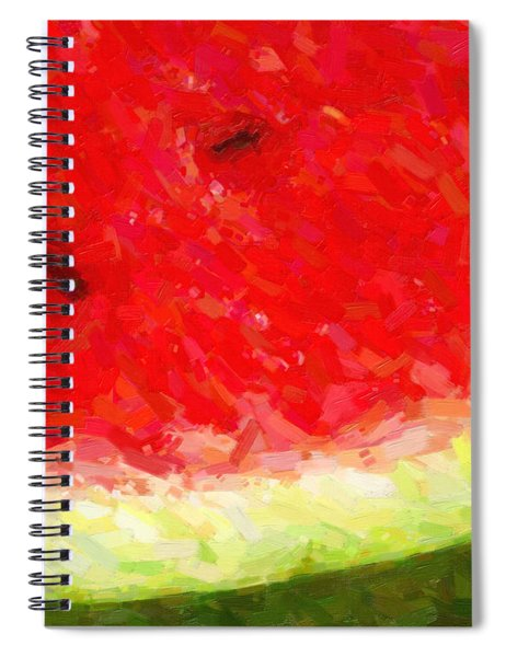 Watermelon With Three Seeds Spiral Notebook