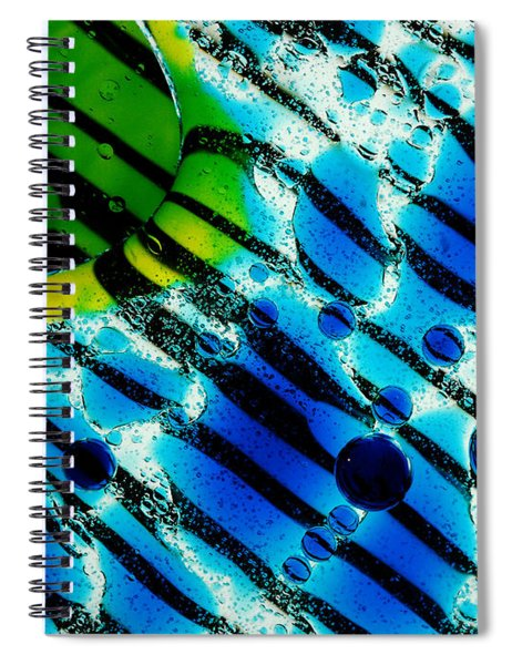 Waterscape Crystal Blue And Yellow Spiral Notebook