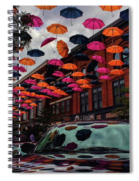 Wausau's Downtown Umbrellas Spiral Notebook