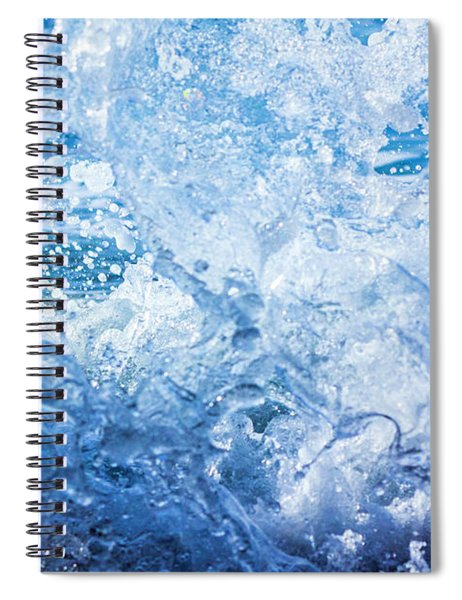 Wave With Hole Spiral Notebook