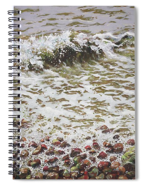 Wave And Colorful Pebbles Spiral Notebook