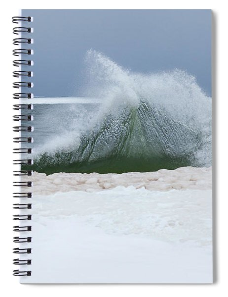 Wave Of Texture Spiral Notebook
