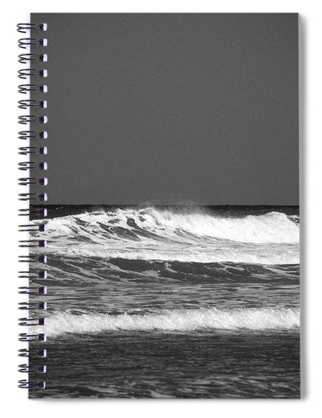 Waves 2 In Bw Spiral Notebook