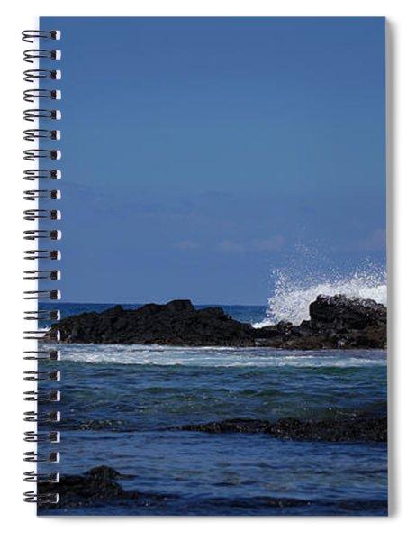 Waves Crashing Spiral Notebook