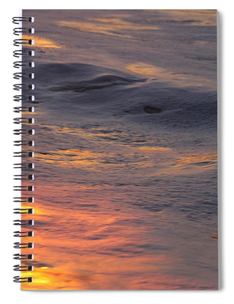 Waves Dawn Reflections Spiral Notebook