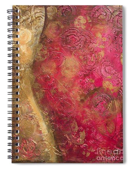 Waves Of Circles Spiral Notebook