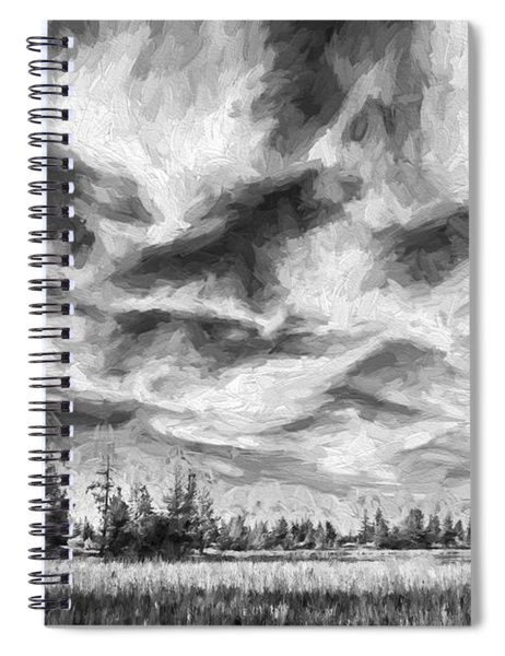 Waves Of Clouds II Spiral Notebook