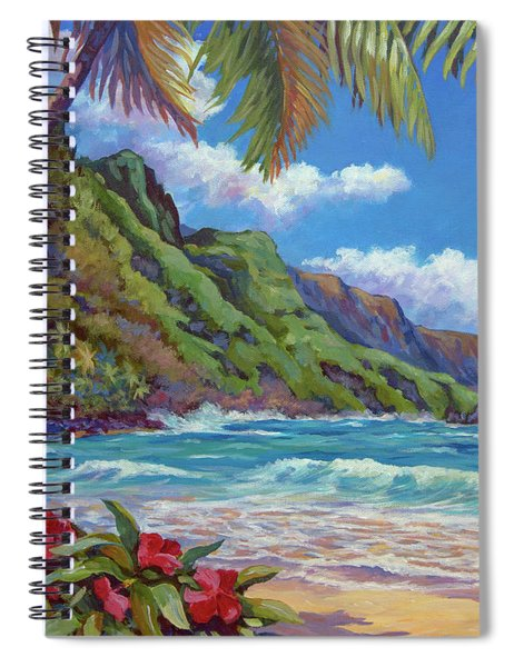 Waves On Na Pali Shore Spiral Notebook