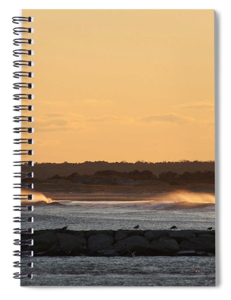 Waves Roll In To Assateague Spiral Notebook