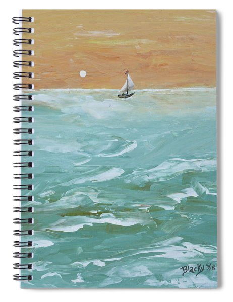 We Sail At Dawn Spiral Notebook