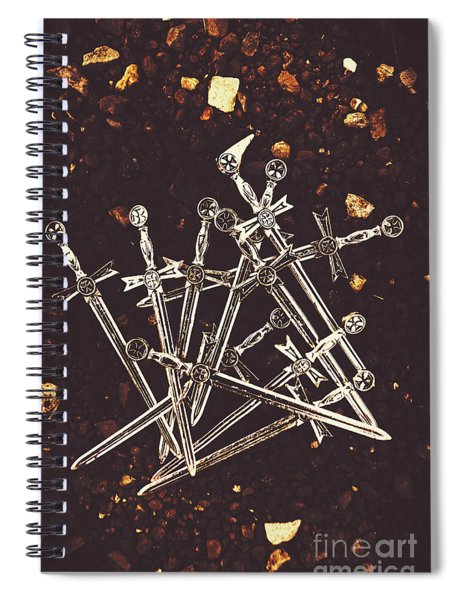 Weaponry Of Ancient War Spiral Notebook