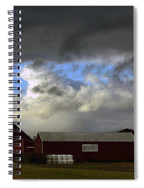 Weather Threatening The Farm Spiral Notebook