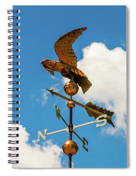 Weather Vane On Blue Sky Spiral Notebook