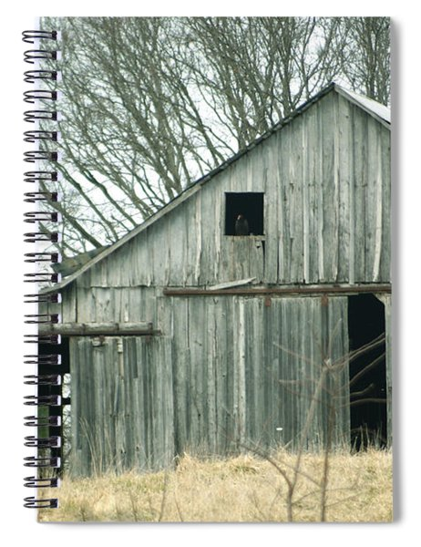 Weathered Barn In Winter Spiral Notebook