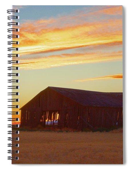 Weathered Barn Sunset Spiral Notebook