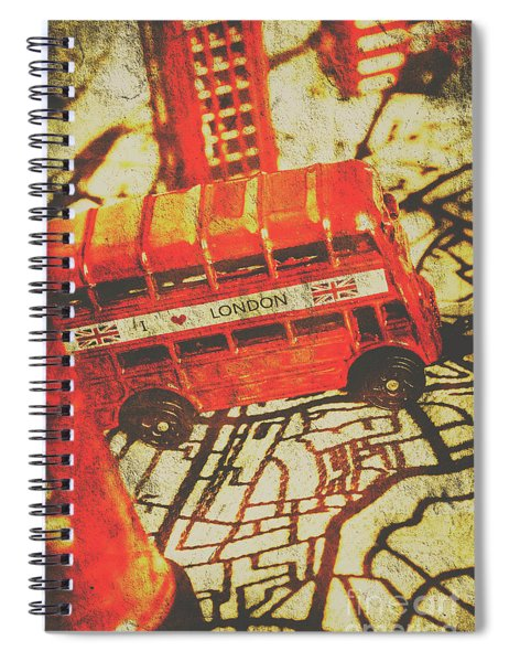 Weathered Bus Routes Spiral Notebook