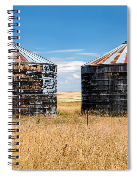 Weathered Old Bins Spiral Notebook