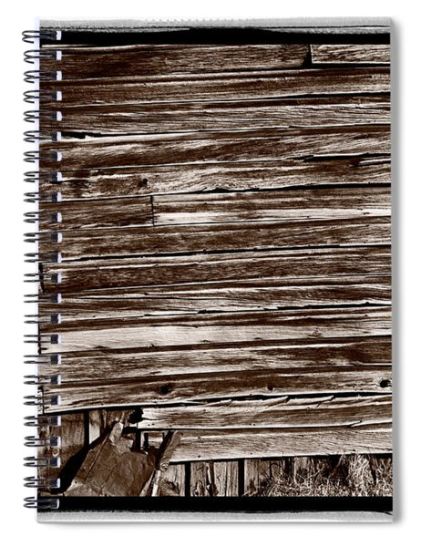 Weathered Wall In Bodie Ghost Town Spiral Notebook
