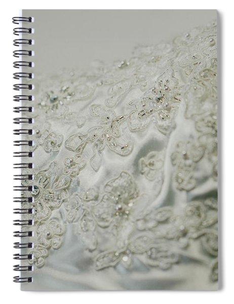 Wedding Dress Floral Beadwork Spiral Notebook