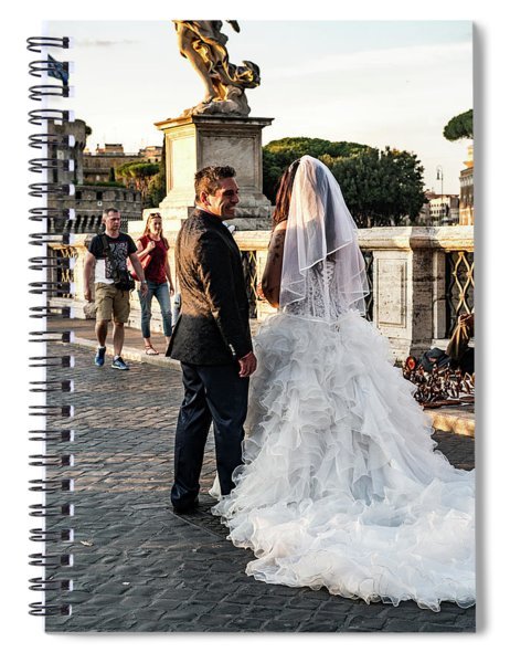 Wedding Stroll On The Ponte Sant'angelo Spiral Notebook