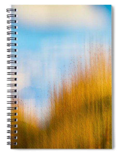 Weeds Under A Soft Blue Sky Spiral Notebook