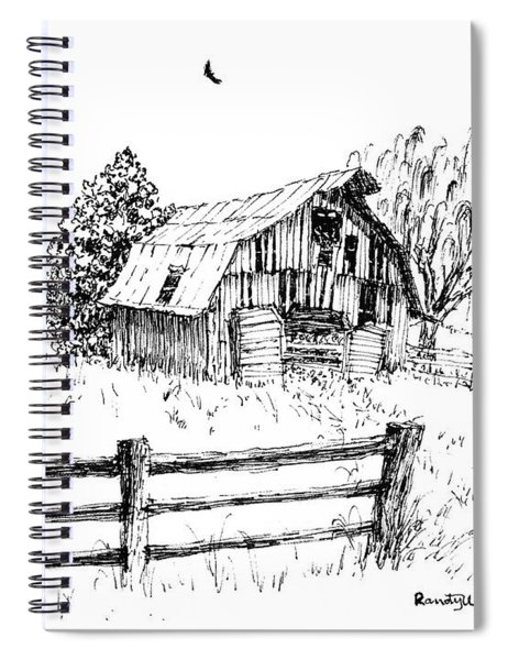 Weeping Willow And Barn One Spiral Notebook