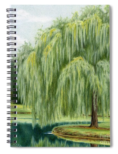 Under The Willow Tree Spiral Notebook