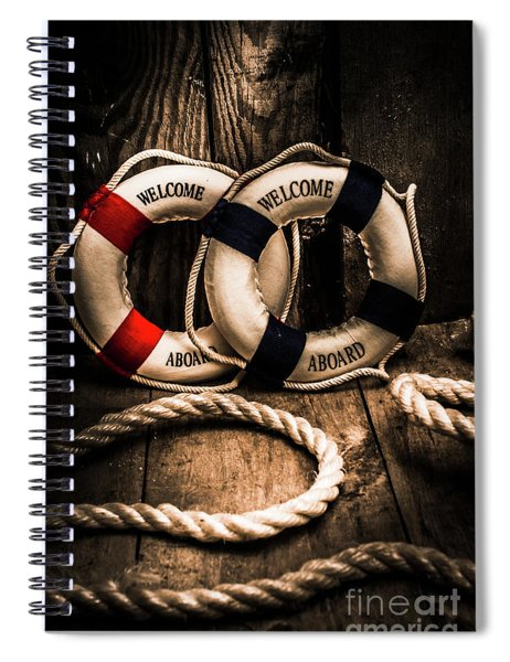 Welcome Aboard The Dark Cruise Line Spiral Notebook