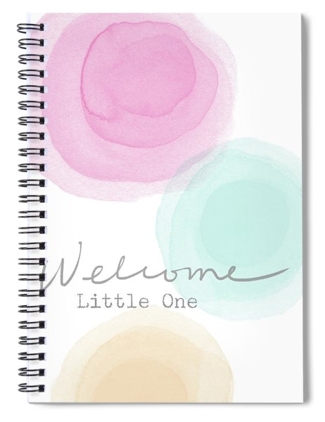 Welcome Little One- Art By Linda Woods Spiral Notebook