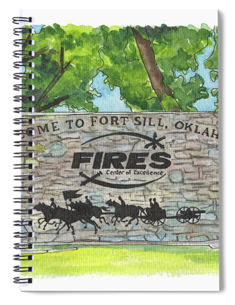 Welcome Sign Fort Sill Spiral Notebook