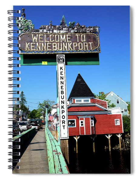 Welcome To Kennebunkport Spiral Notebook