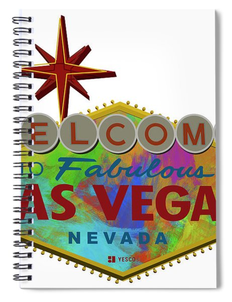 Welcome To Las Vegas Sign Digital Drawing Paint Spiral Notebook