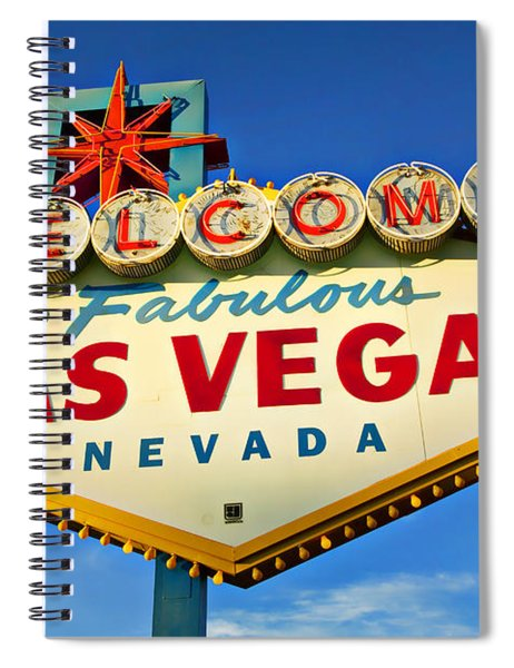 Welcome To Las Vegas Sign Spiral Notebook