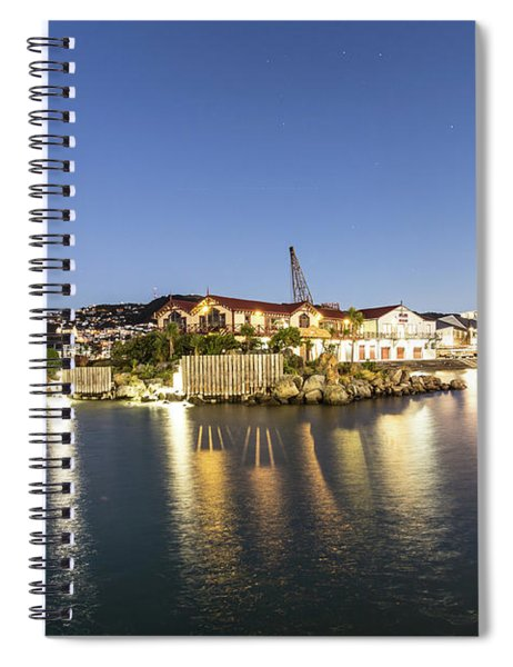 Wellington Waterfront At Night Spiral Notebook
