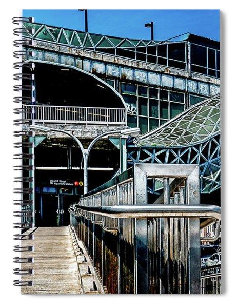 West 8th Street New York Aquarium Subway Station Spiral Notebook