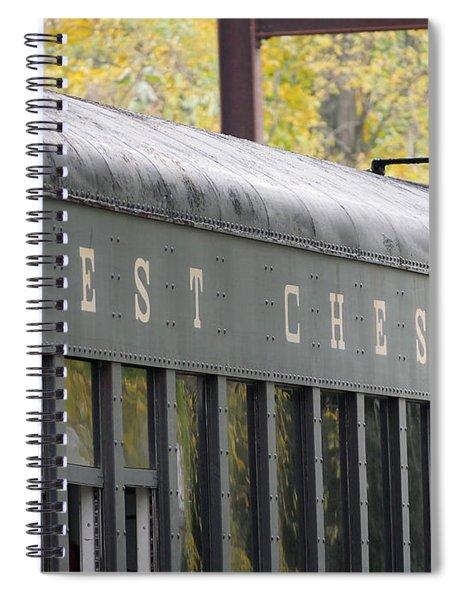 West Chester Railroad - Passenger Car Spiral Notebook