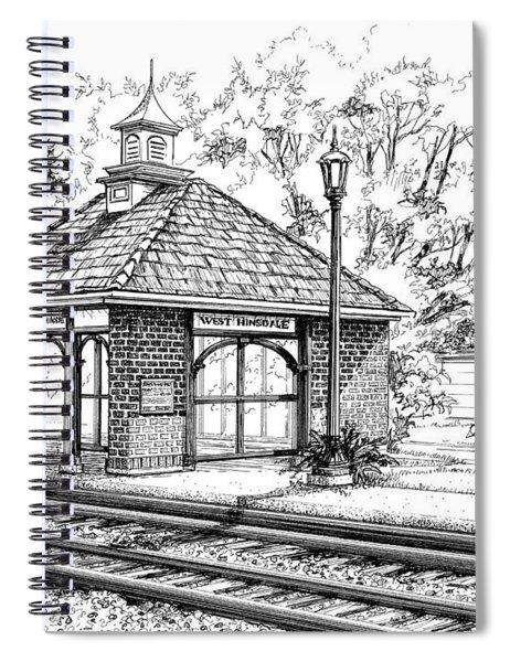 West Hinsdale Train Station Spiral Notebook
