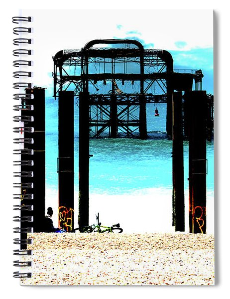 West Pier Graphic Spiral Notebook