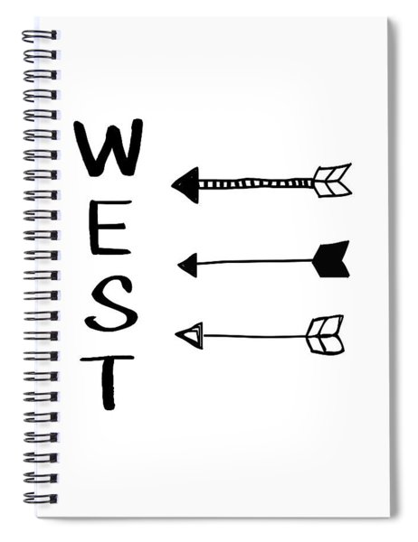 West With Arrows- Art By Linda Woods Spiral Notebook