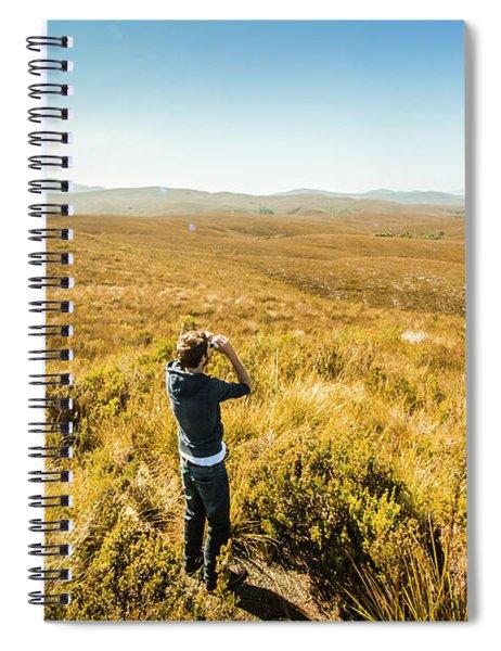 Western Plains Of Tasmania Spiral Notebook