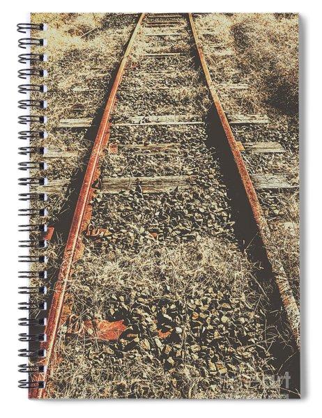 Western Railway Of Routes Forgotten Spiral Notebook