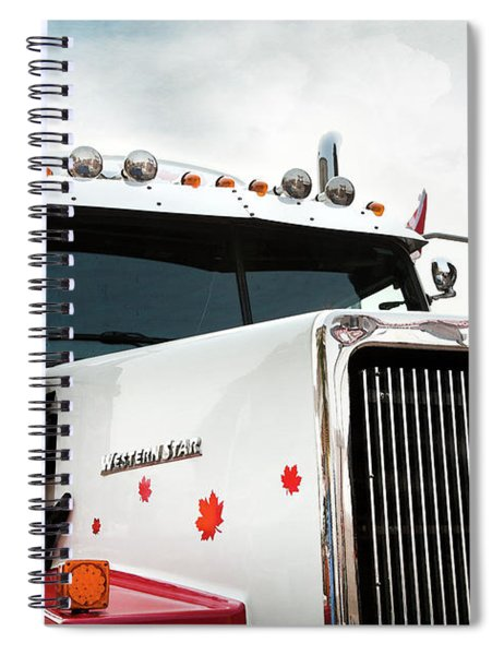 Western Star Out Of Canada Spiral Notebook