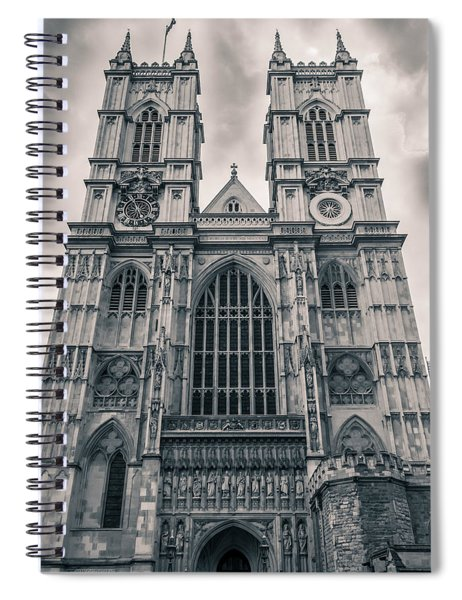 Westminister Abbey Bw Spiral Notebook