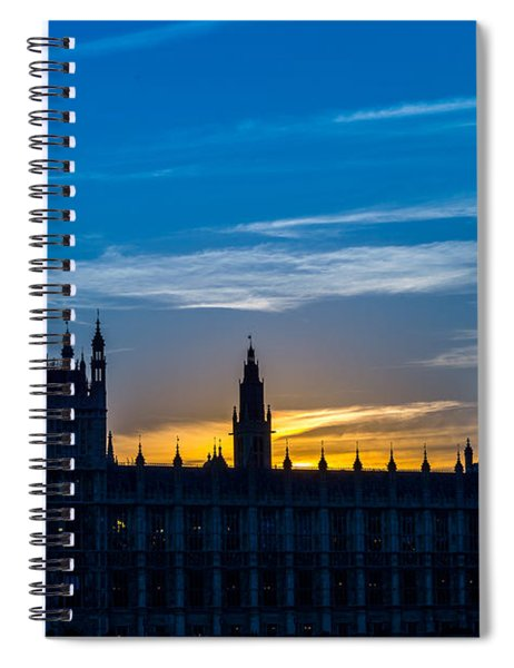 Westminster Parlament In London Golden Hour Spiral Notebook