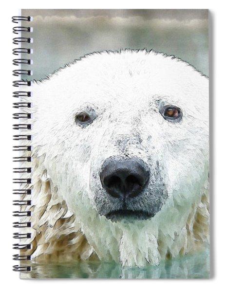 Wet Polar Bear Spiral Notebook