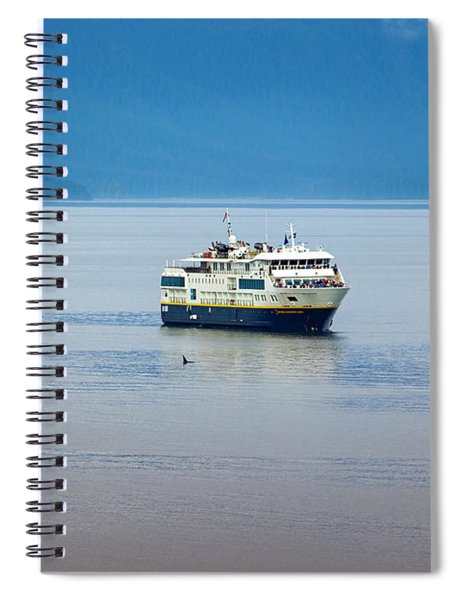 Whale Watching In Glacier Bay Spiral Notebook
